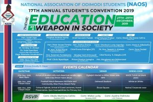 Students Unionism: NAOS 17th annual convention will climax tomorrow at Odimodi