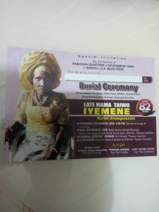 Late Mama Taiwo Iyemene aged 82 for Burial March 8 at Odimodi – The Liberator
