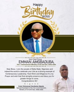 Akpule Celebrates His Boss, Commissioner Amgbaduba On Birth Anniversary – The Liberator