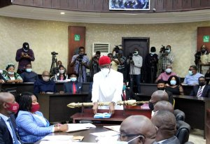 """BREAKING: Okowa presents N378.48bn """"Budget of Recovery'' for 2021"""