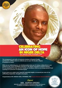​Joemarine Institute Celebrate Former Nimasa DG Peterside On 50th Birth Anniversary