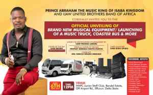Isaba Ijaw Music King To Launch/Unveil Musical Equipments In Warri May 6