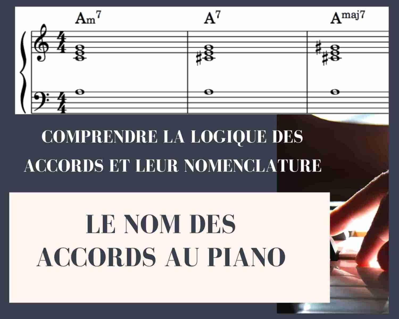 Le nom des accords au piano