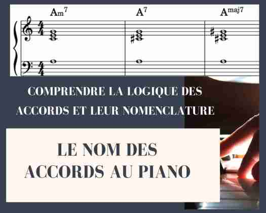 Le nom des accords au piano