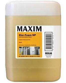 Midlab Klor-Foam NP Chlorinated Alkaline Cleaner – 5 Gallon