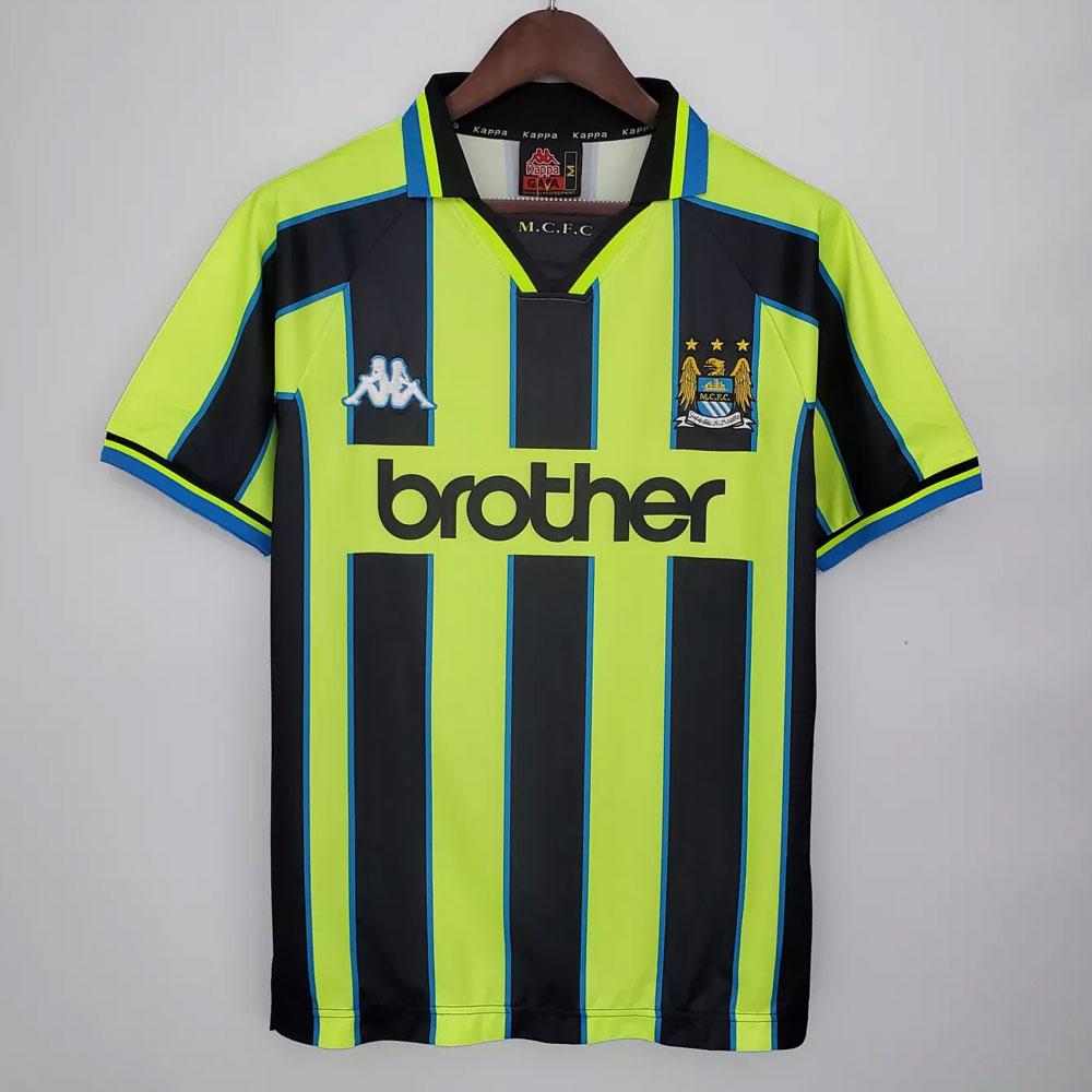 ליברו חולצות כדורגל וביגוד ספורט   חולצת רטרו מנצ'סטר סיטי 1999 חוץ