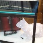 handbag and polar bear