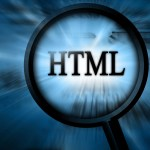 html under magnifying glass