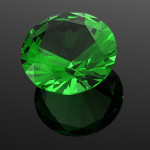 Luxury 3D diamonds render. Jewelry gemstone. Emerald
