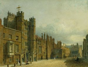 St_James's_Palace,_North_Front,_by_Charles_Wild,_1819_-_royal_coll_922161_257088_ORI_0