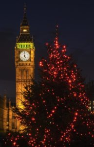 Big Ben with Christmas Tree