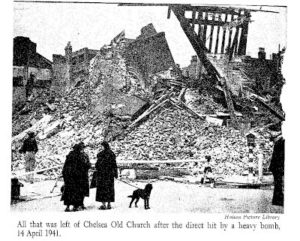 Chelsea Old Church after bombing