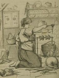 female servants included a barefoot cook