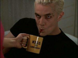 Buffy's Librarian Spike's mug