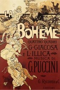 1896 poster for première of La Bohème