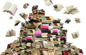 TBR pile of books