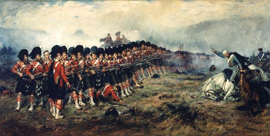93rd regiments famous stand against cavalry at Balaklava