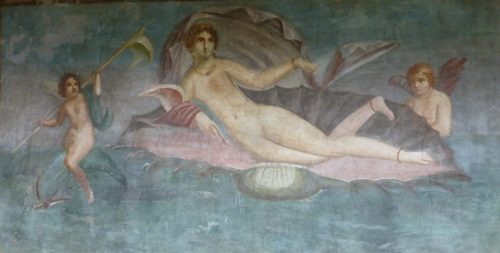 Pompeii: Venus in the Shell wall painting
