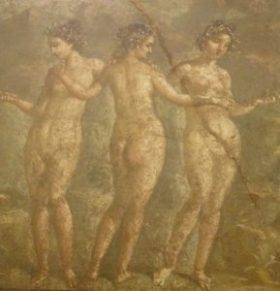 Three Graces wall painting, Naples Museum