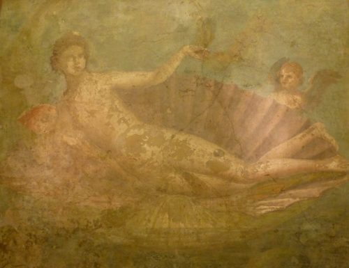 Venus in the sea shell, Naples Museum
