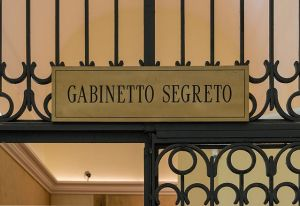 Gate to Secret Cabinet, Naples Museum
