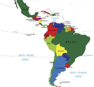 Latin America showing Peru