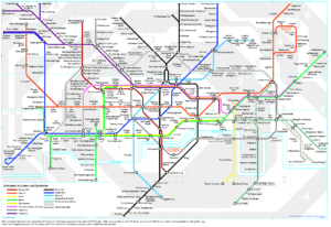 Day 3 wordplay: London tube map in German, sort of