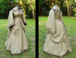 1870 polonaise style gown