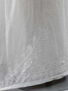 1807 wedding dress asymmetric embroidery on front
