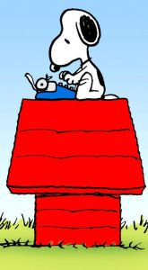 Holiday - Snoopy at Typewriter