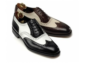 """black and white """"co-respondent"""" shoes"""