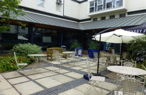 open courtyard for RNA conference delegates to relax in
