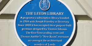 leeds Georgian library blue plaque