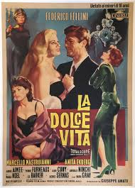 La Dolce Vita Movie poster, blonde