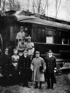 Armistice Day train after the signature