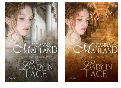 alternative covers for Lady in Lace by Joanna Maitland