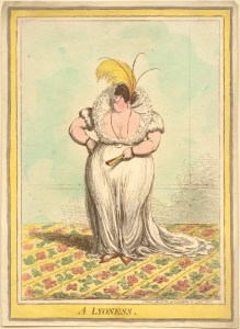 Gillray's Lyoness, controlling her impossible?