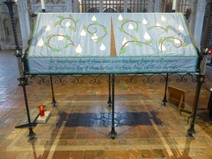 Winchester cathedral, St Swithun memorial