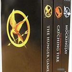 spines of The Hunger Games, one of 100 novels