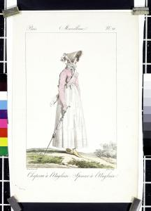 1814 fashion print with parasol © Victoria & Albert Museum, London