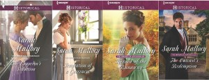 covers of Sarah Mallory books