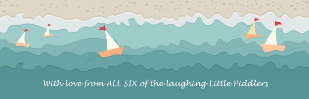 beach, sea, sailing ships and message from 6 Little Piddlers