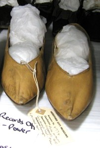 leather shoes, 1810, Hereford collection