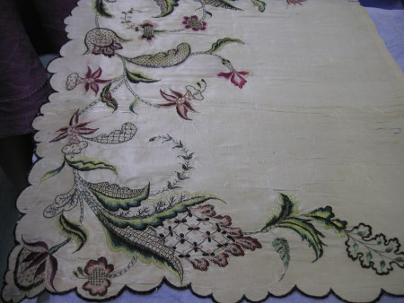 delicate embroidery