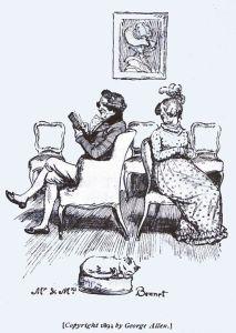 Illustration, Mr and Mrs Bennet