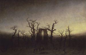 Abbey in Oakwood by Caspar David Friedrich