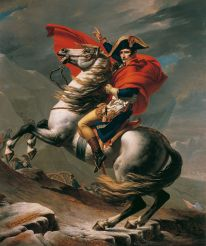 Napoleon Crossing the Alps by David, Belvedere version #3