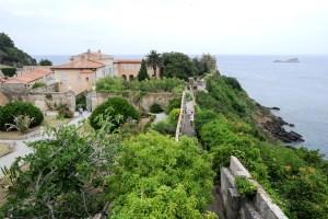 ITALY, PORTOFERRAIO - 4 july 2011: garden of Palazzina Dei Mulini, Napoleon residence in Portoferraio on the island Elba