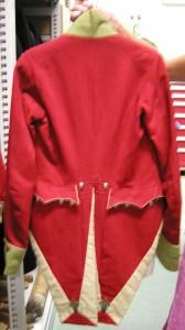 Regency military uniform jacket back