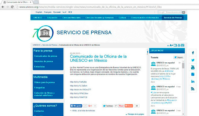 UNESCO-COMUNICADO